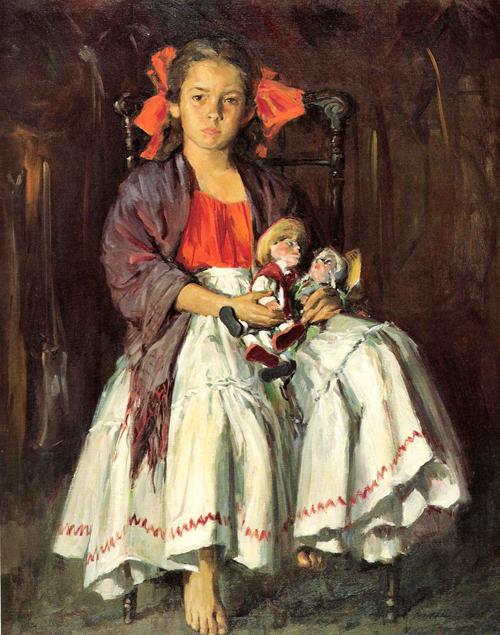 Cristina con munequas