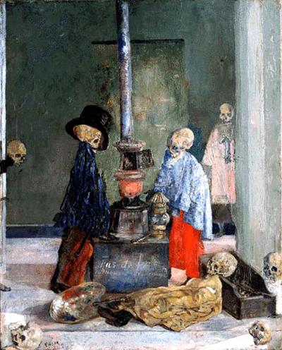 James-ensor-esqueletos-aquecendo-se-1889