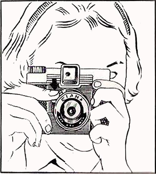 Diana line drawing