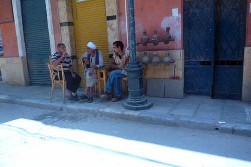 Sidewalk sitters