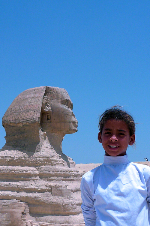 Girl with sphinx