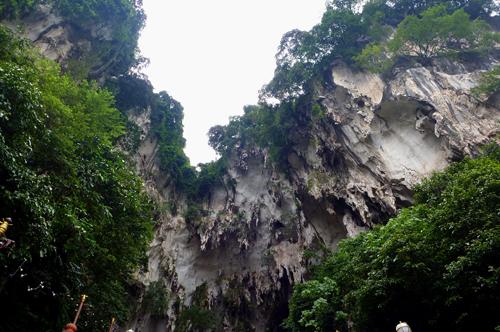 Cave overhang