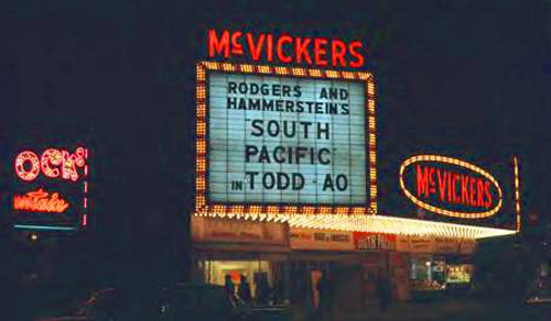 Photo-chicago-mcvickers-theater-25-w-madison-2206-seats-marquee-night-demolished-from-balaban-and-katz-foundation-site