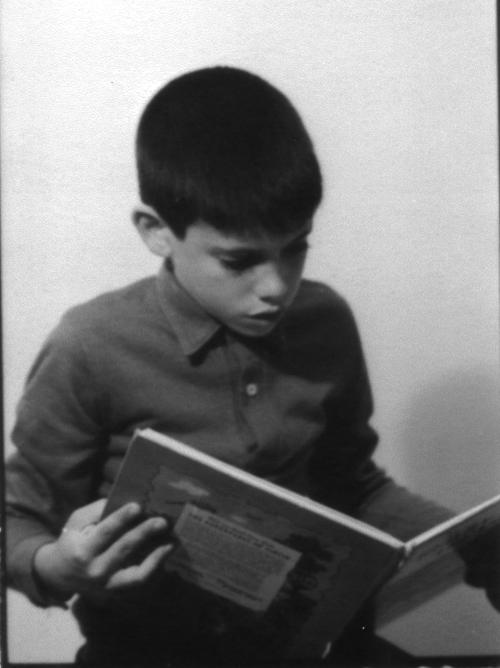 Reading Tintin B+W