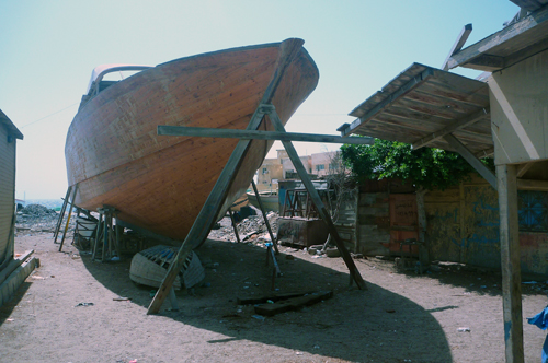 Boat on stilts