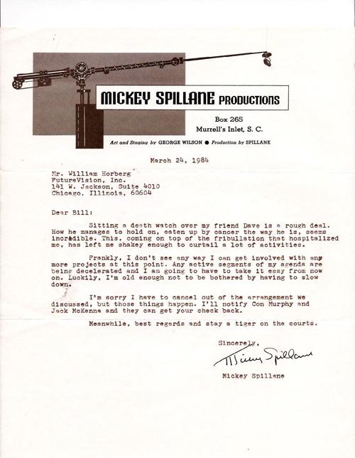 Spillane letter