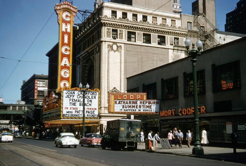 1955 Loop theatre  featuring Katharine Hepburn in Summertime