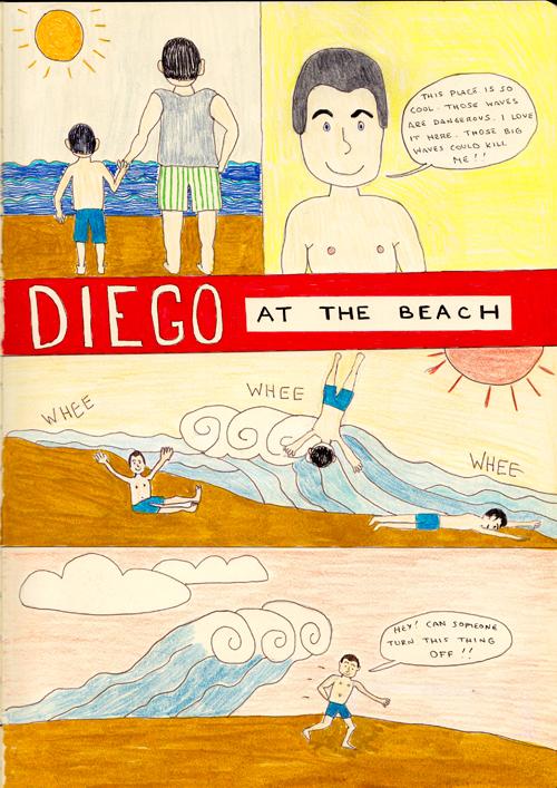 Diego at the Beach