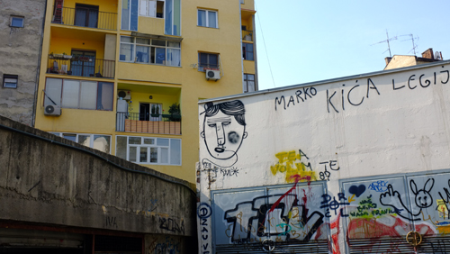 Serb graffiti