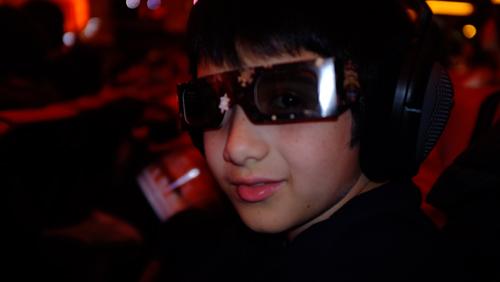 3D glasses and headphones