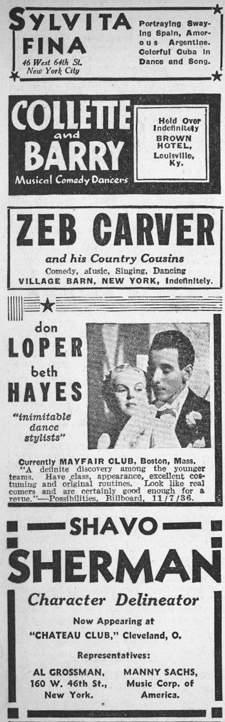 1936 Night Club Acts 3