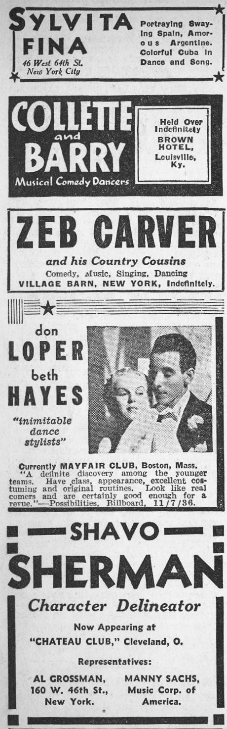 1936 Night Club Acts 3