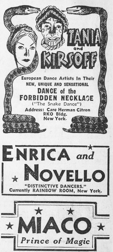 1936 Night Club Acts 2
